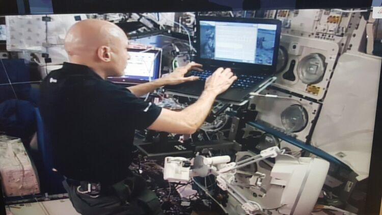 Luca Parmitano sulla ISS