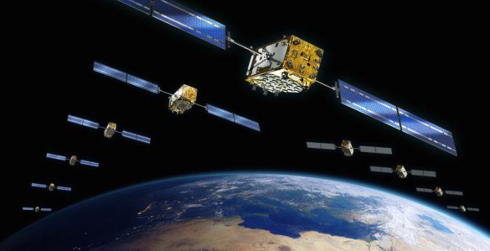 Render dei satelliti della rete Galileo.
