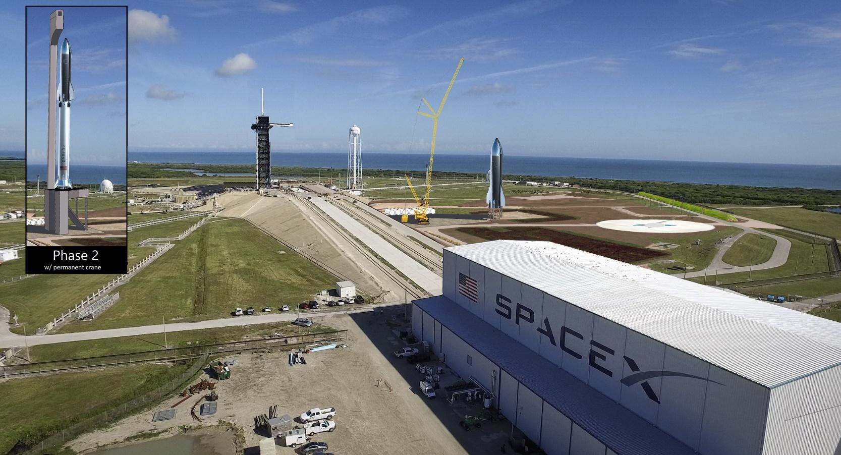 Render della zona di lancio SpaceX