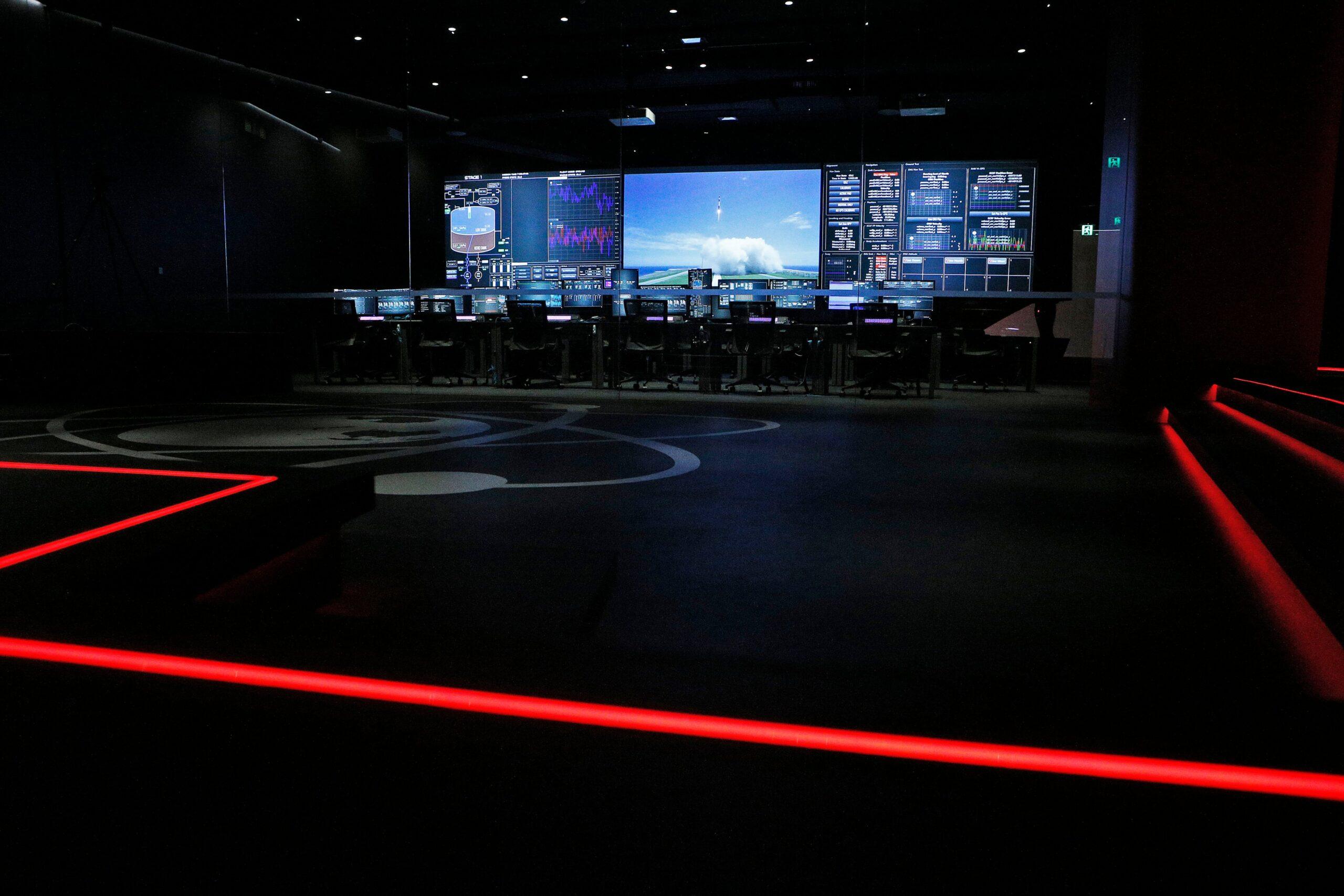 La sala di controllo di Rocket Lab. Spettacolare.