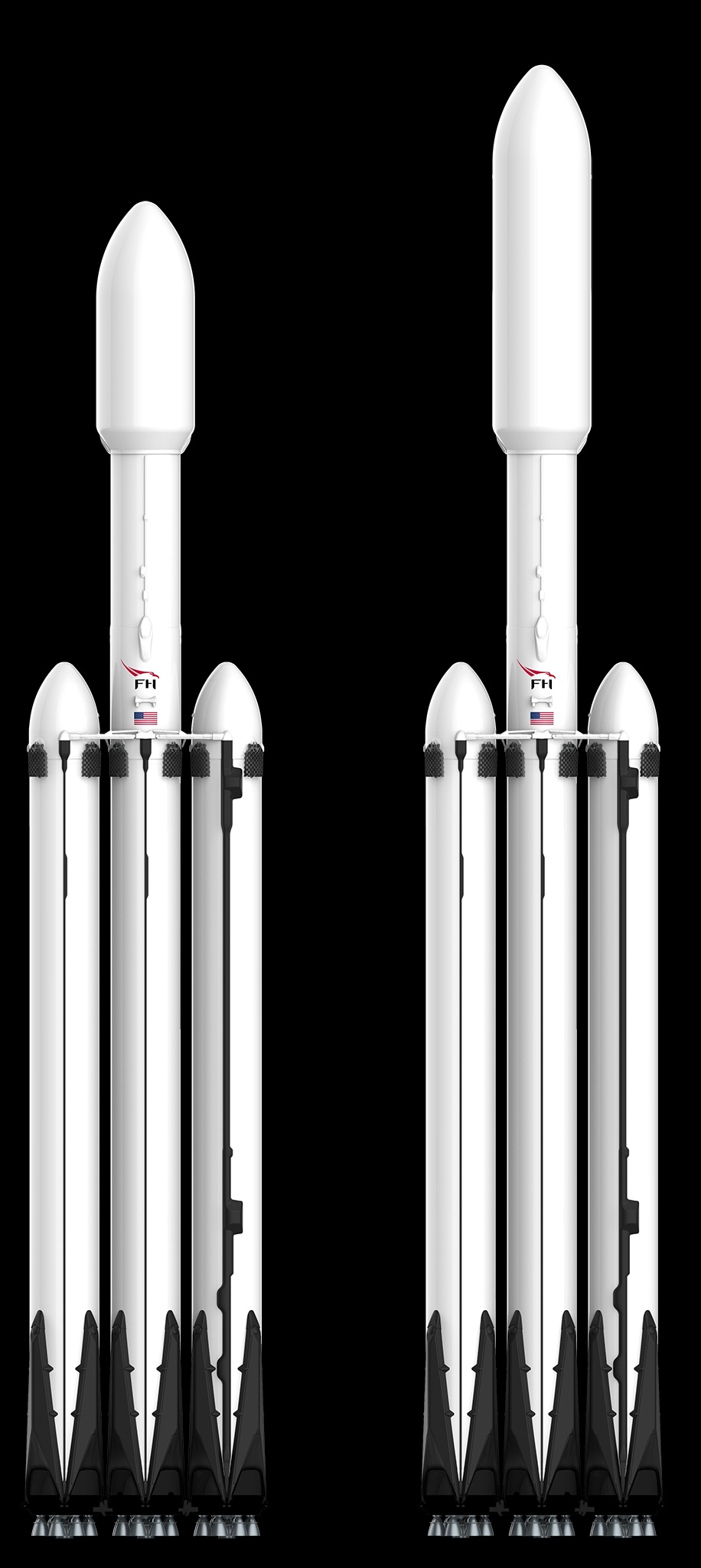 Falcon Heavy Nuovo Fairing SpaceX ULA
