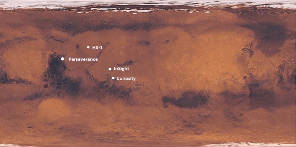 Siti di atterraggio Marte