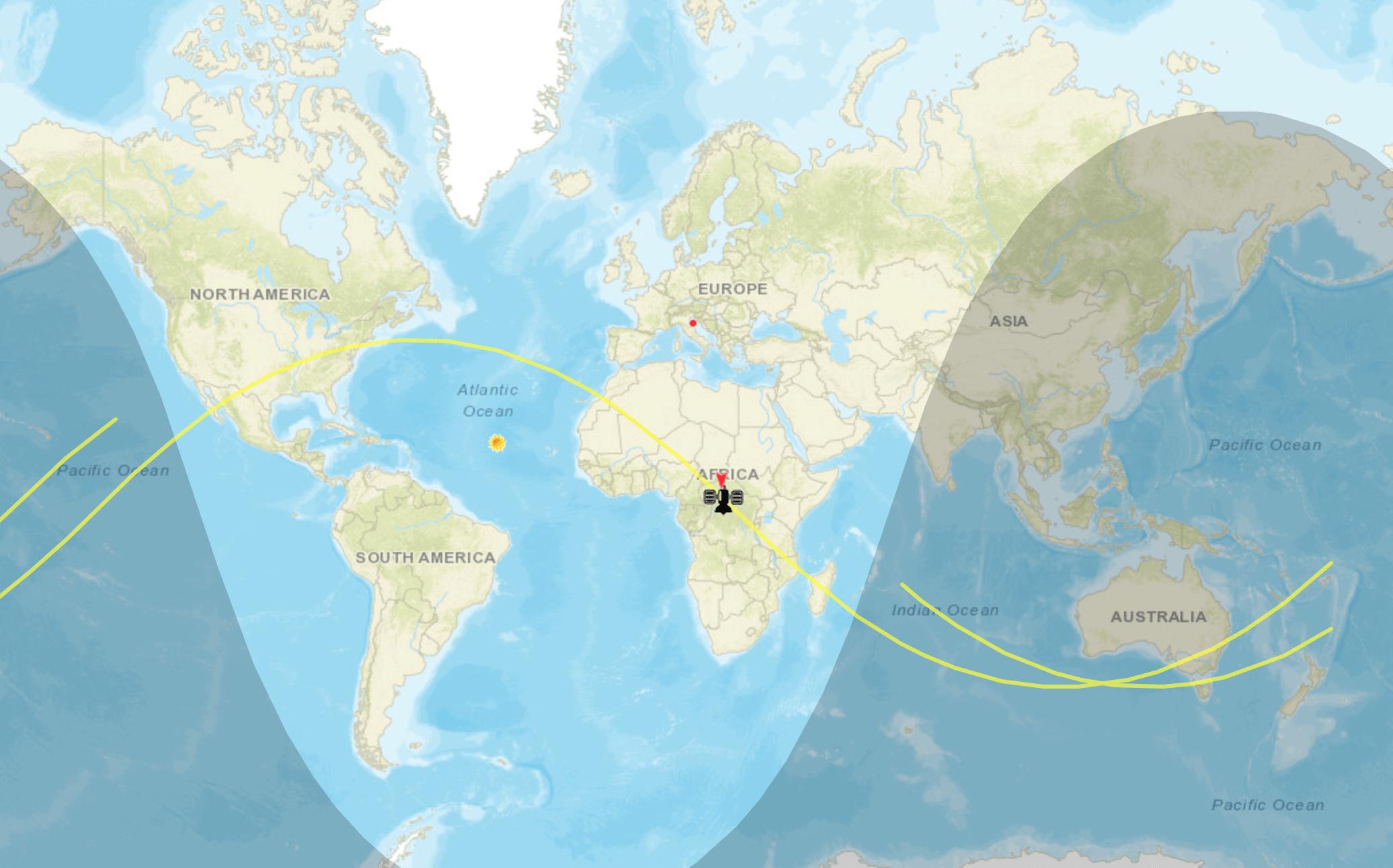 Orbita attuale del Lunga Marcia 5B
