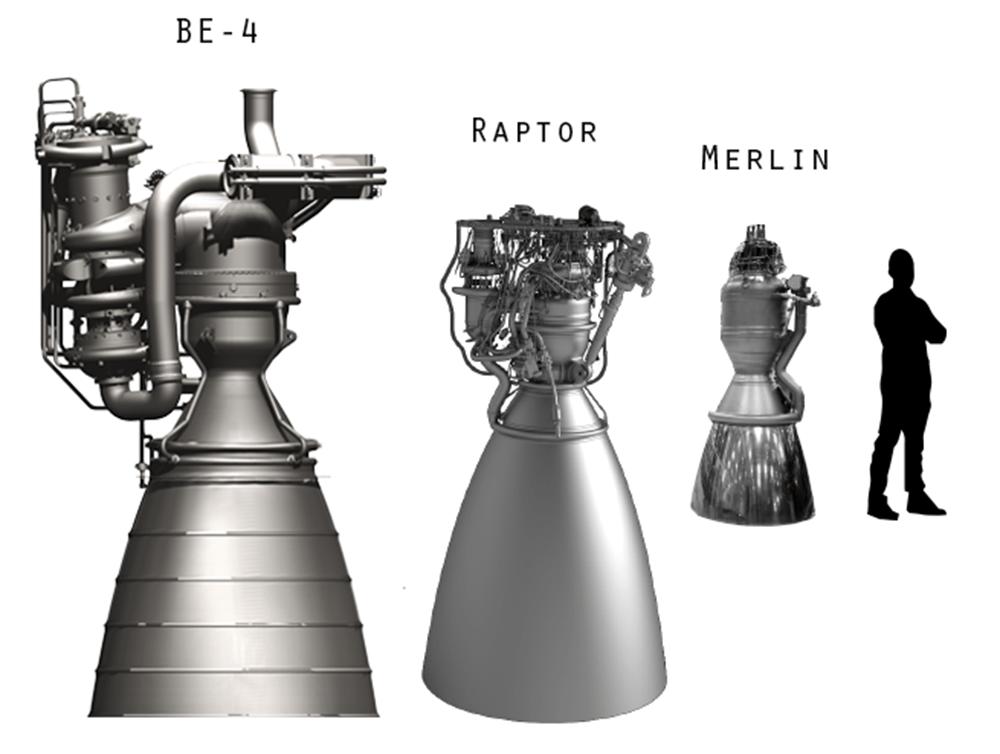 SpaceX Raptor Merlin BE-4