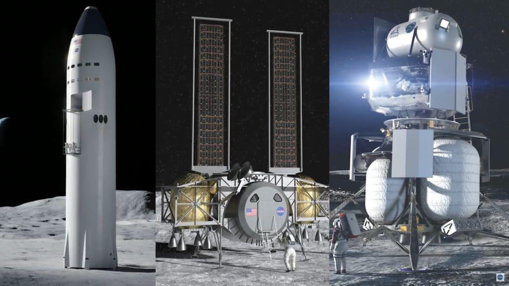 I tre lander del programma HLS (confronto non in scala)