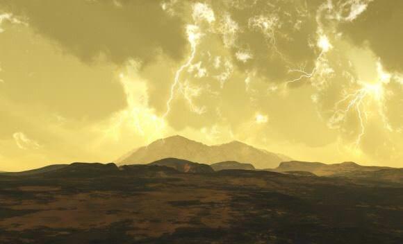 Una realizzazione artistica della superficie di Venere.