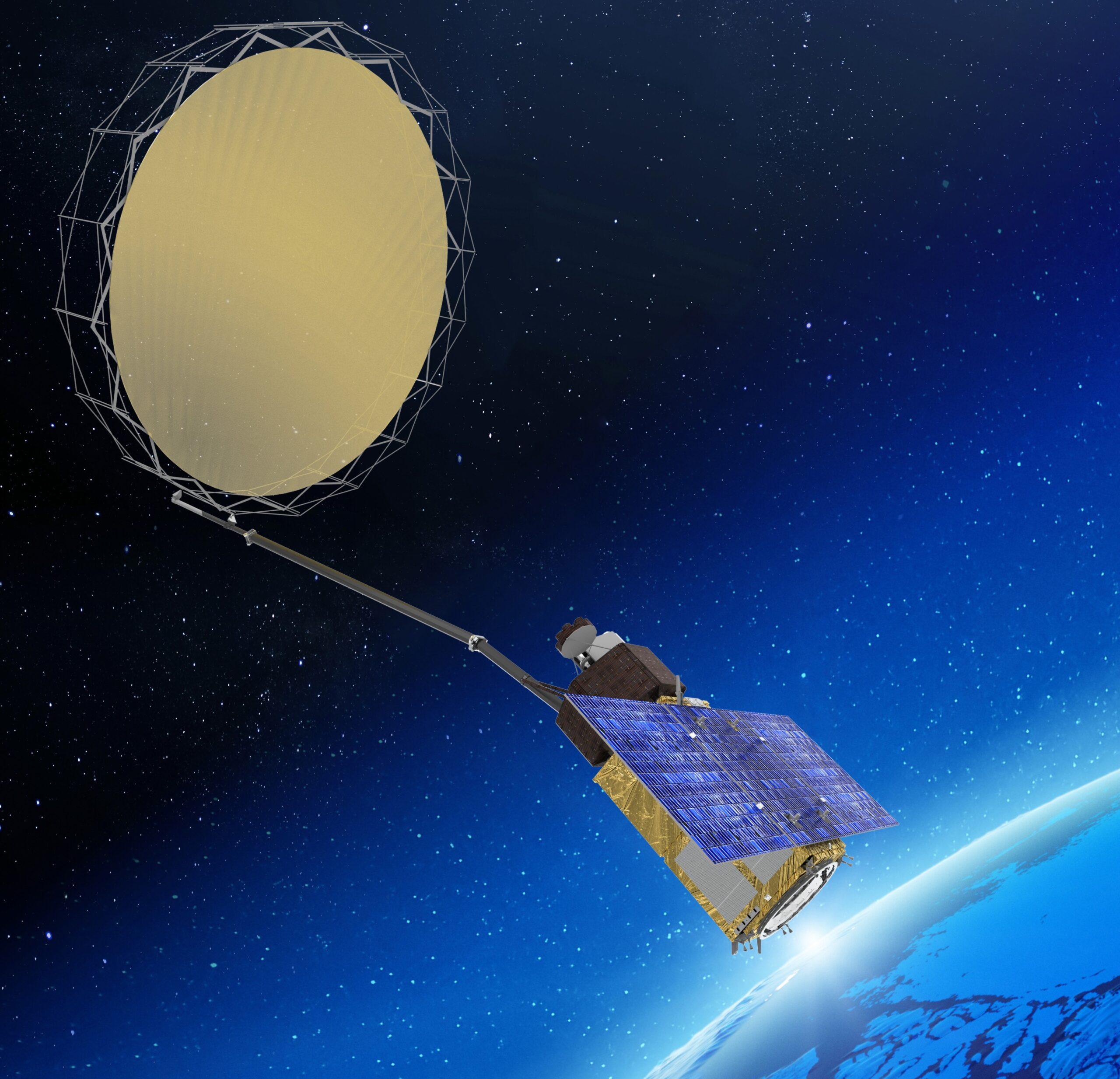 Un render del satellite CIMR Copernicus. Credits: ESA/Thales Alenia Space