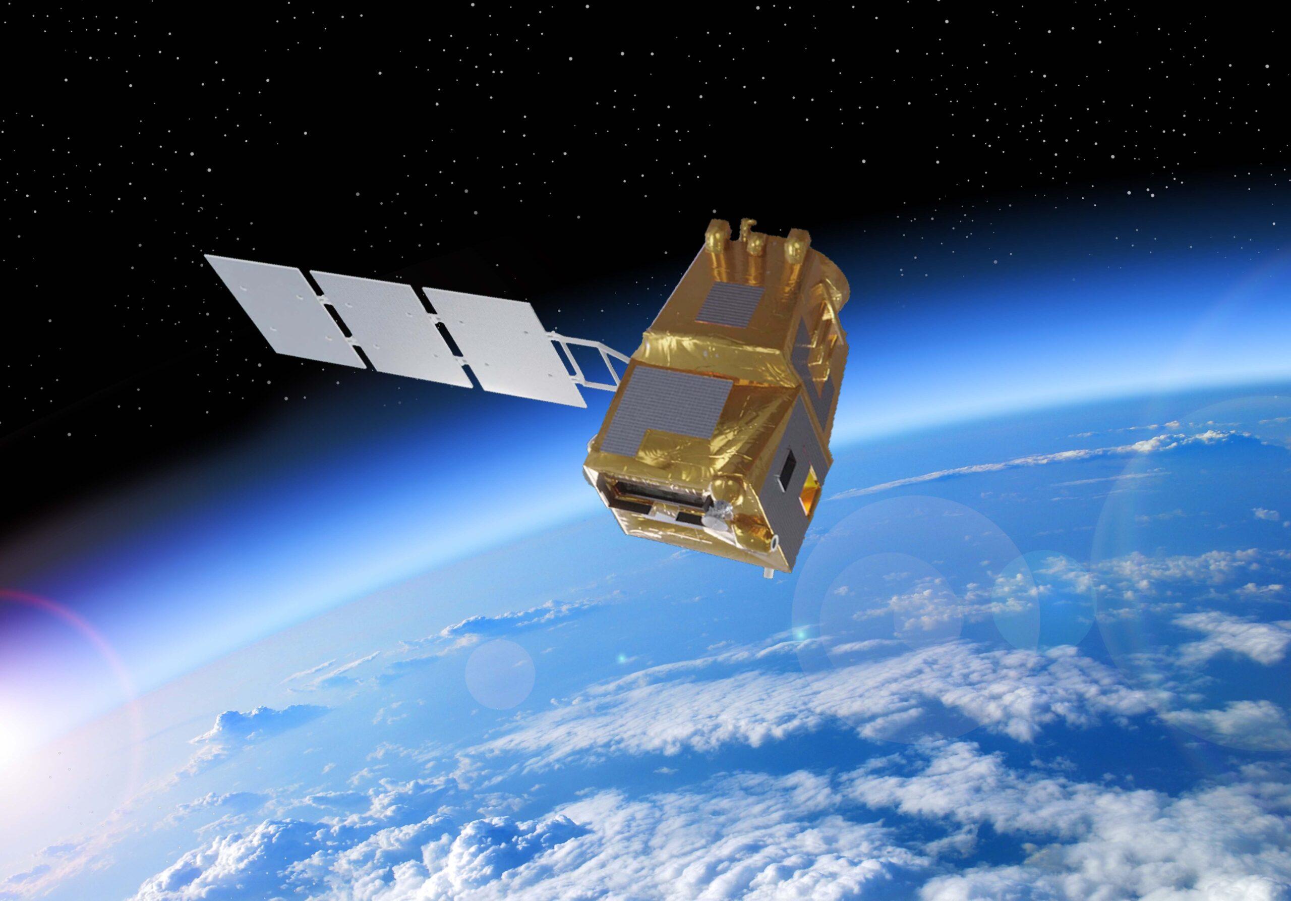 Un render del satellite LSTM copernicus. Credits: ESA/Thales Alenia Space