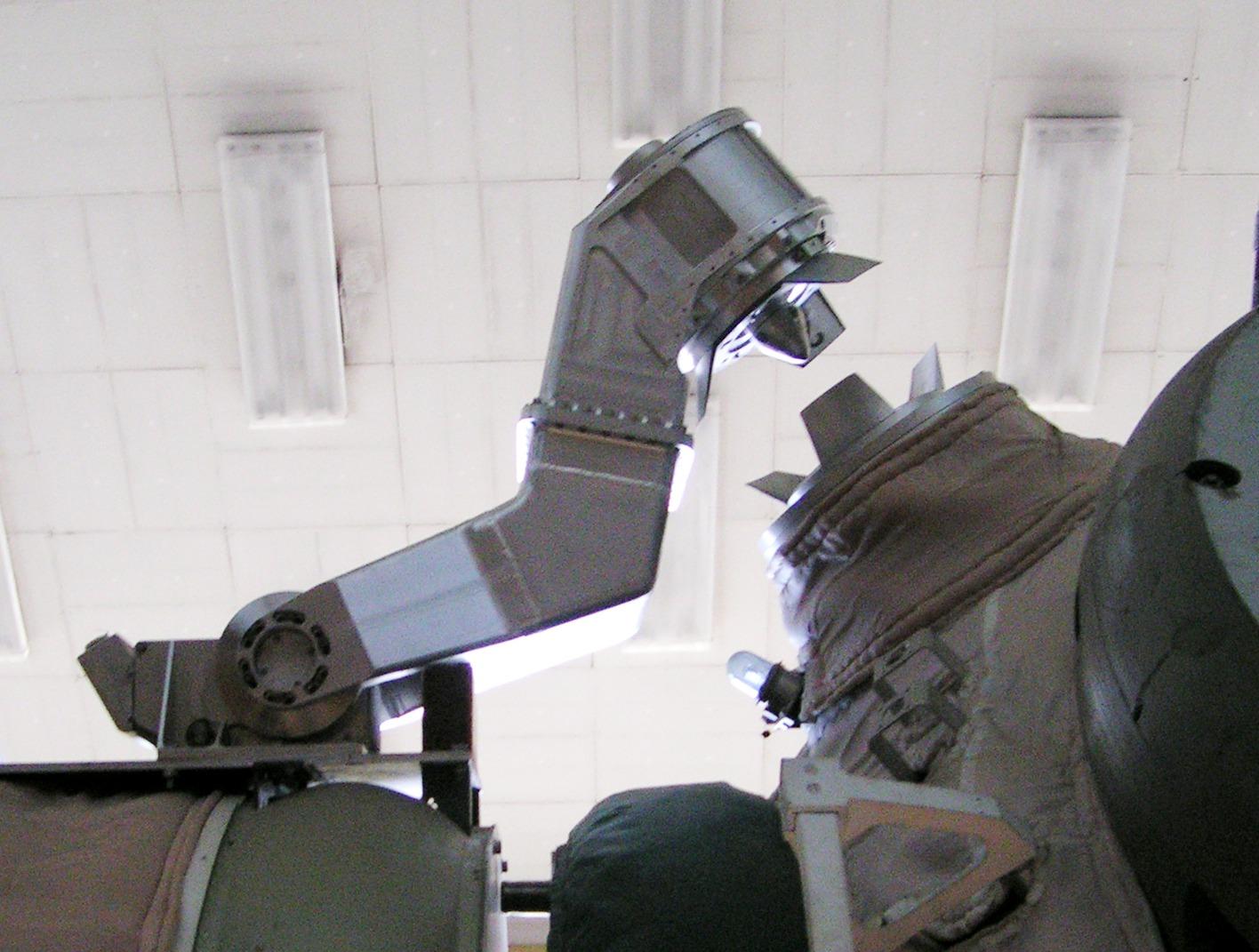 Il braccio robotico Lyappa montato sulla Mir.