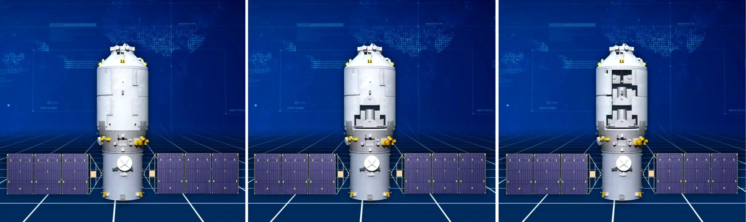 Le tre versioni della capsula Tianzhou . Credits: CNSA