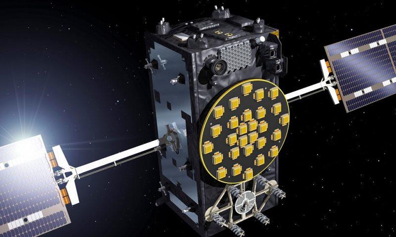 Un dettaglio (in render) di un satellite Galileo. Credits: ESA.