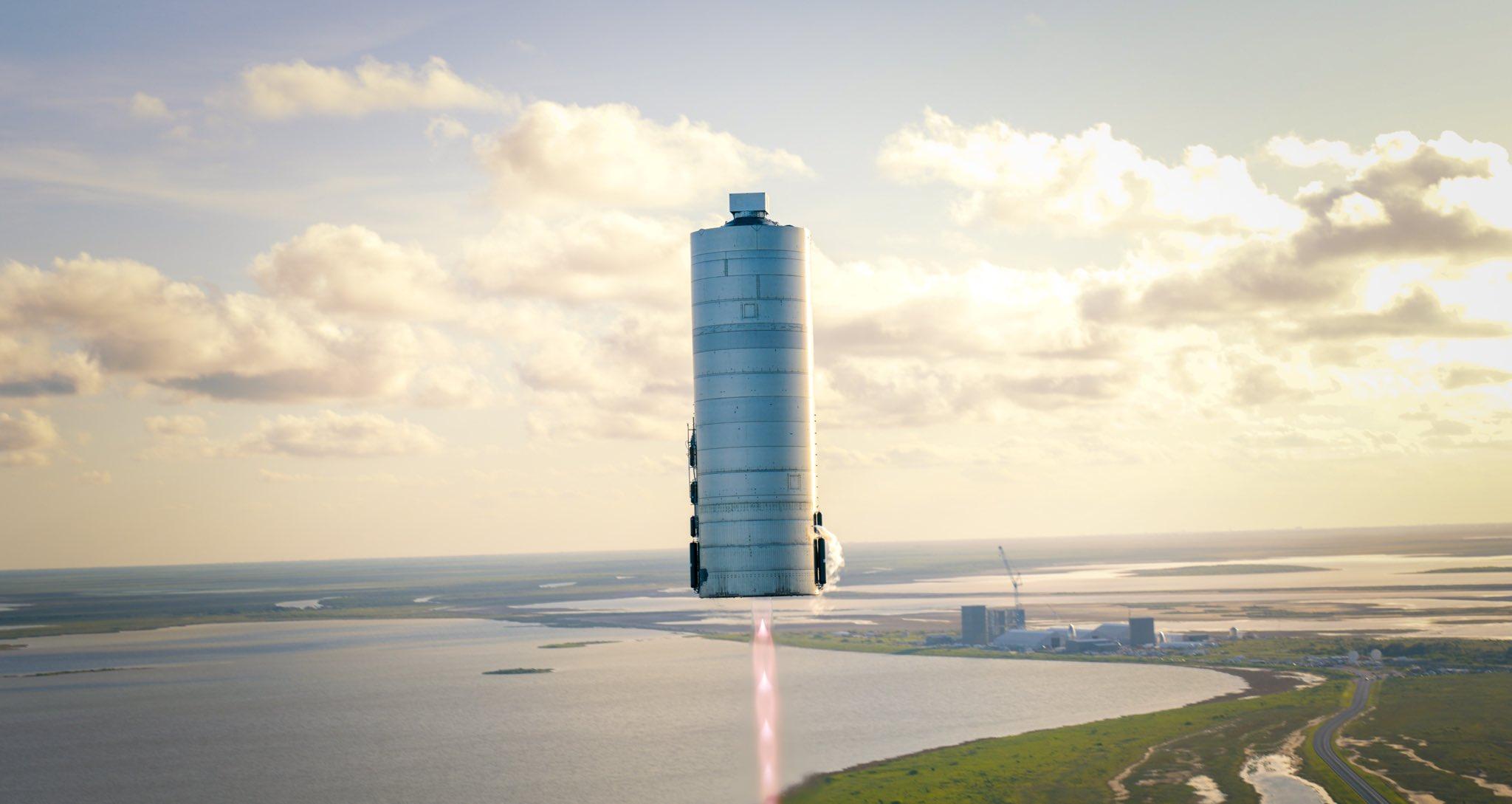 SN5. Il primo volo di una Starship. Credits: SpaceX