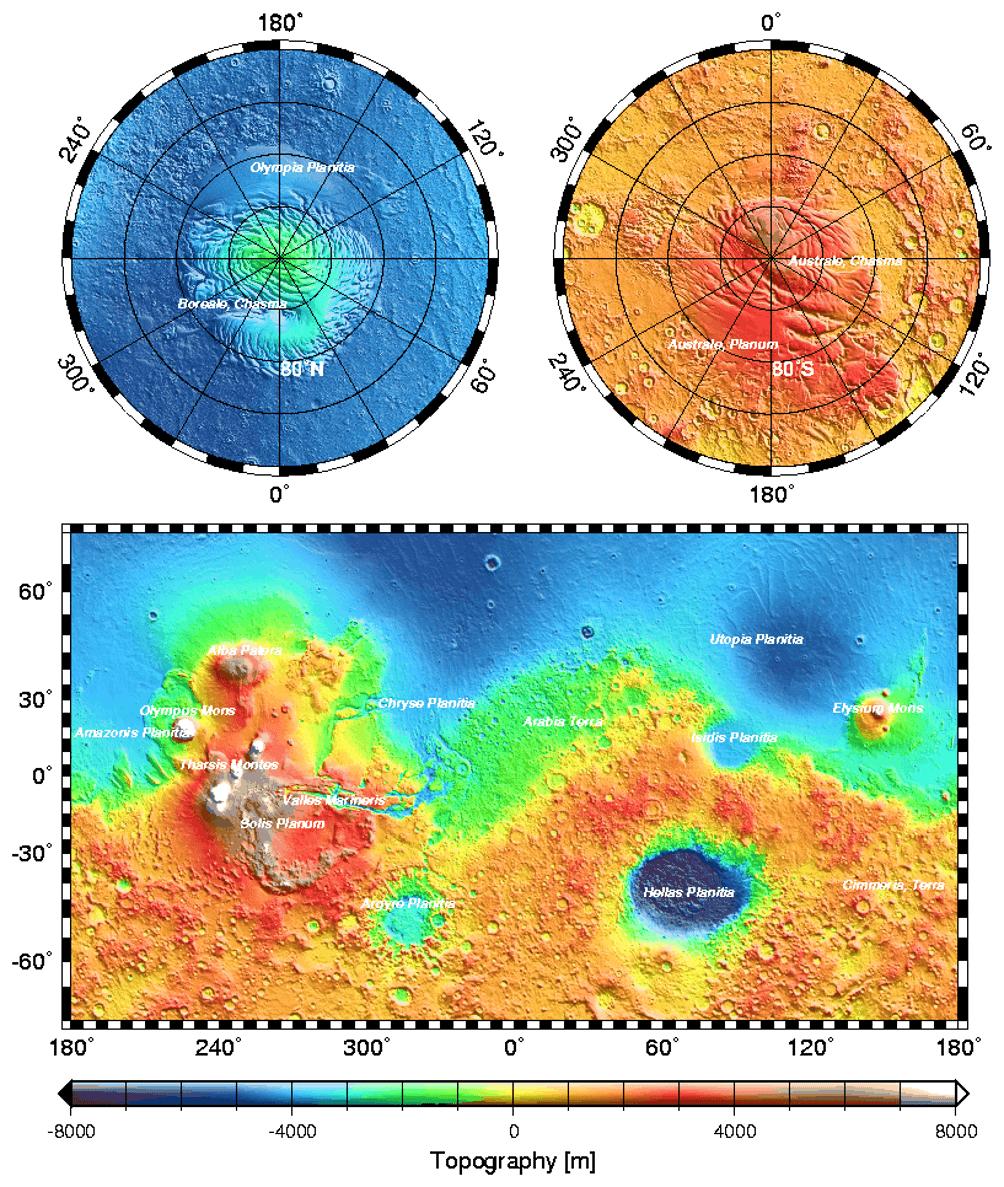 Topografia arrivo su Marte