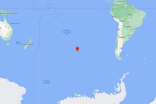 La South Pacific Ocean Uninhabited Area. detriti spaziali