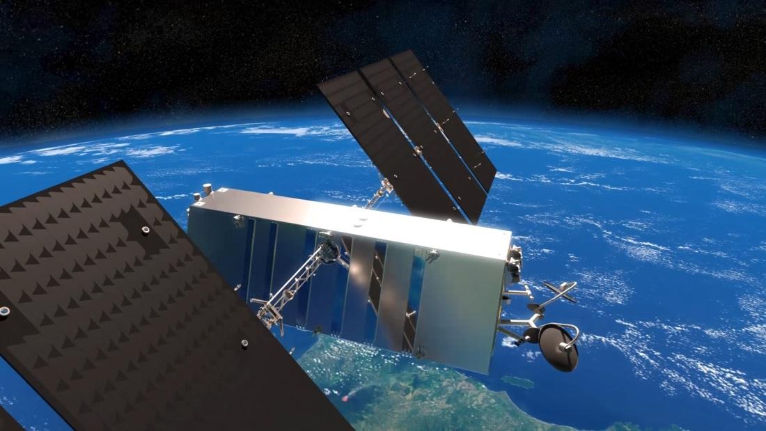 Un render del satellite Lightspeed. Credits: Thales Alenia Space.