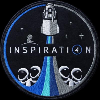 La patch della missione Inspiration4. Credits: Inspiration4.