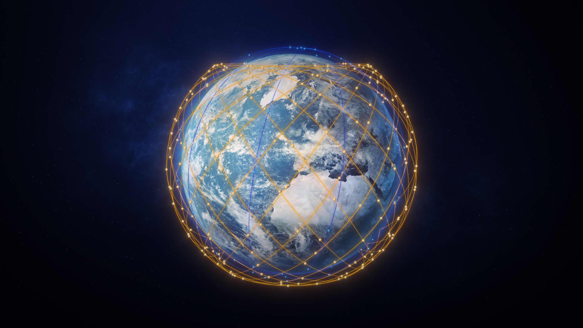 Un render dei piani orbitali che occuperà Lightspeed. Credits: Thales Alenia Space