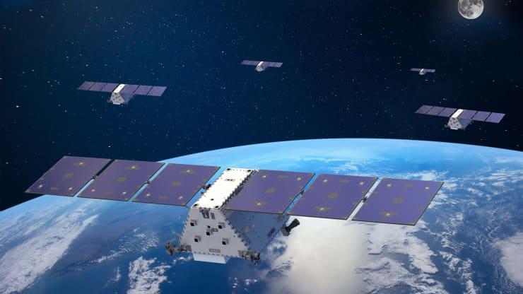 Un render dei satelliti LM 400 il cui peso varia tra i 400 e gli 800 Kg. Credits. Lockheed Martin