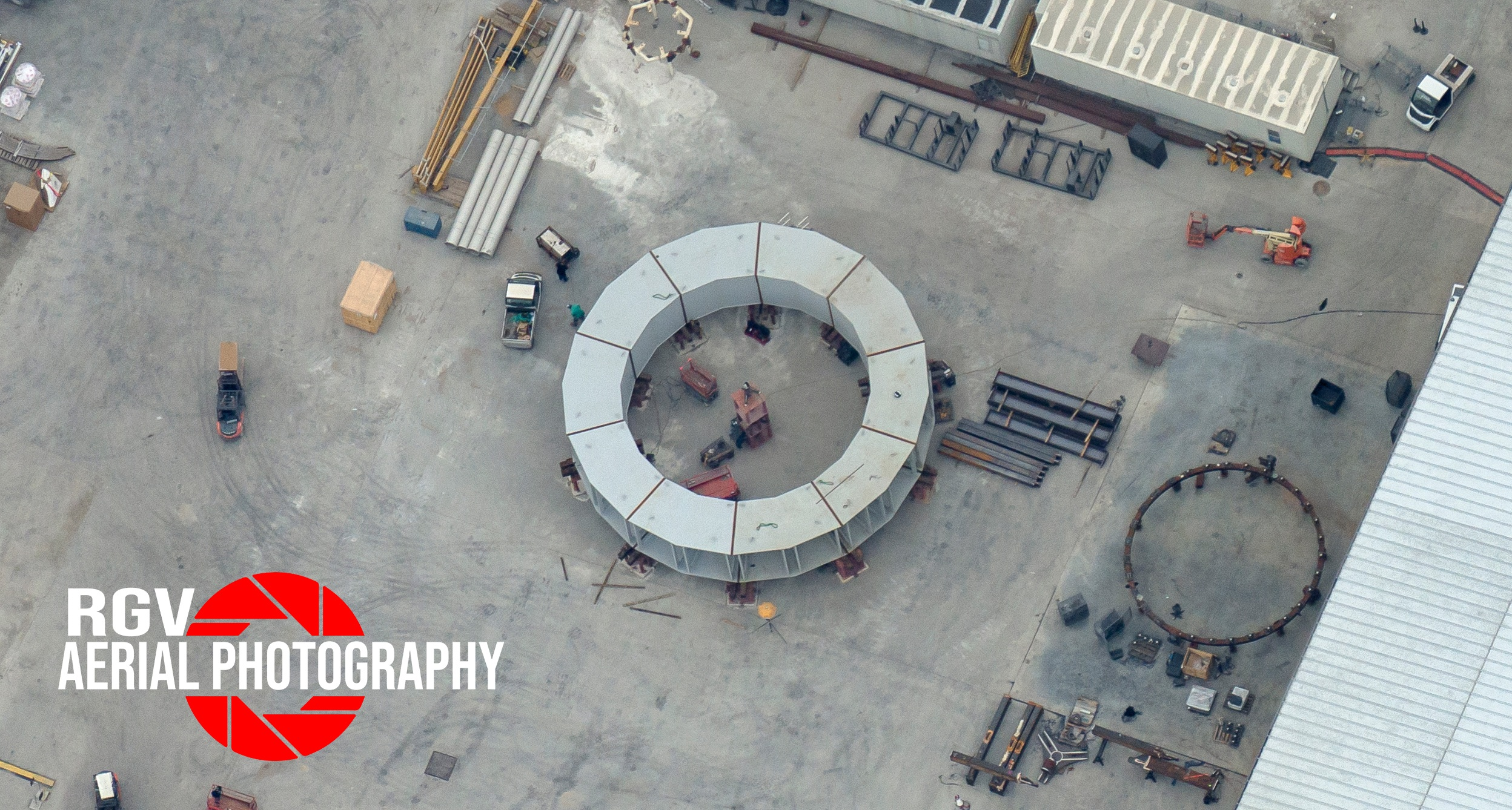 Anello del pad per i lanci orbitali. Credits: RGVAerialPhotograpy