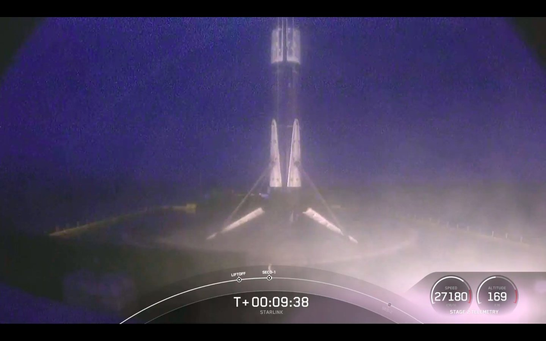 Il nono rientro del Falcon 9 B1051.