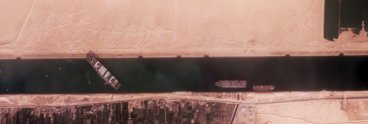 Foto realizzata da Black Sky Global Ever Given Suez