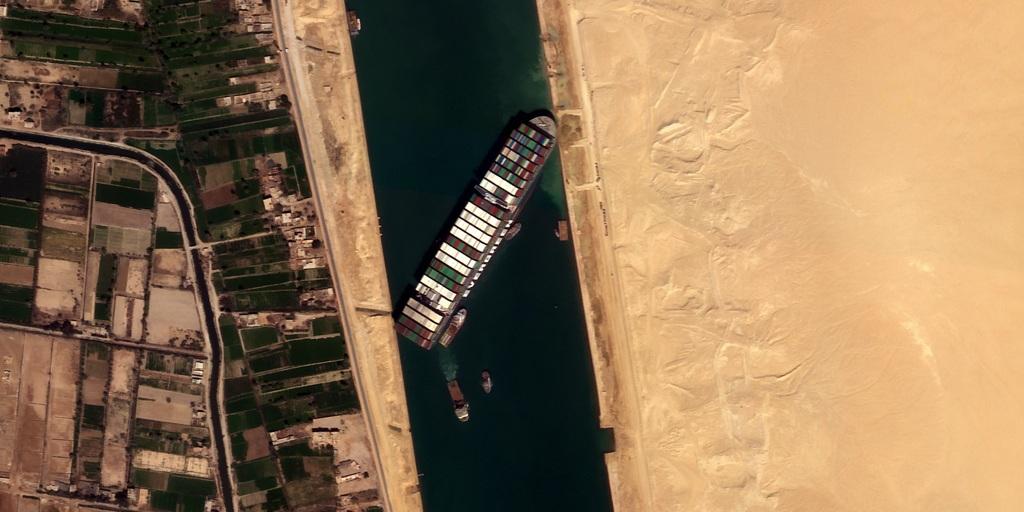 La Ever Given fotografata dai satelliti di Satellogic.