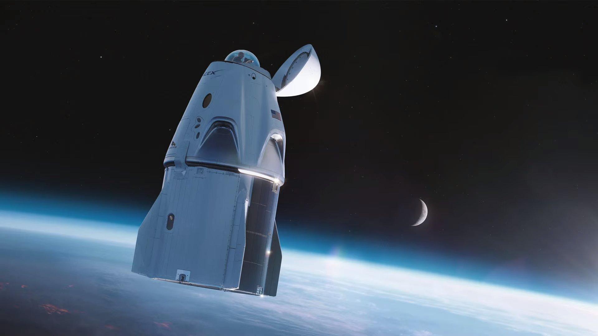La cupola della capsula Dragon che verrà usata per la missione Inspiration 4. Credits: SpaceX.