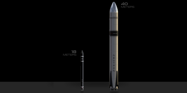 Electron (sulla sinistra) e Neutron, sulla destra. Credits: Rocket Lab.