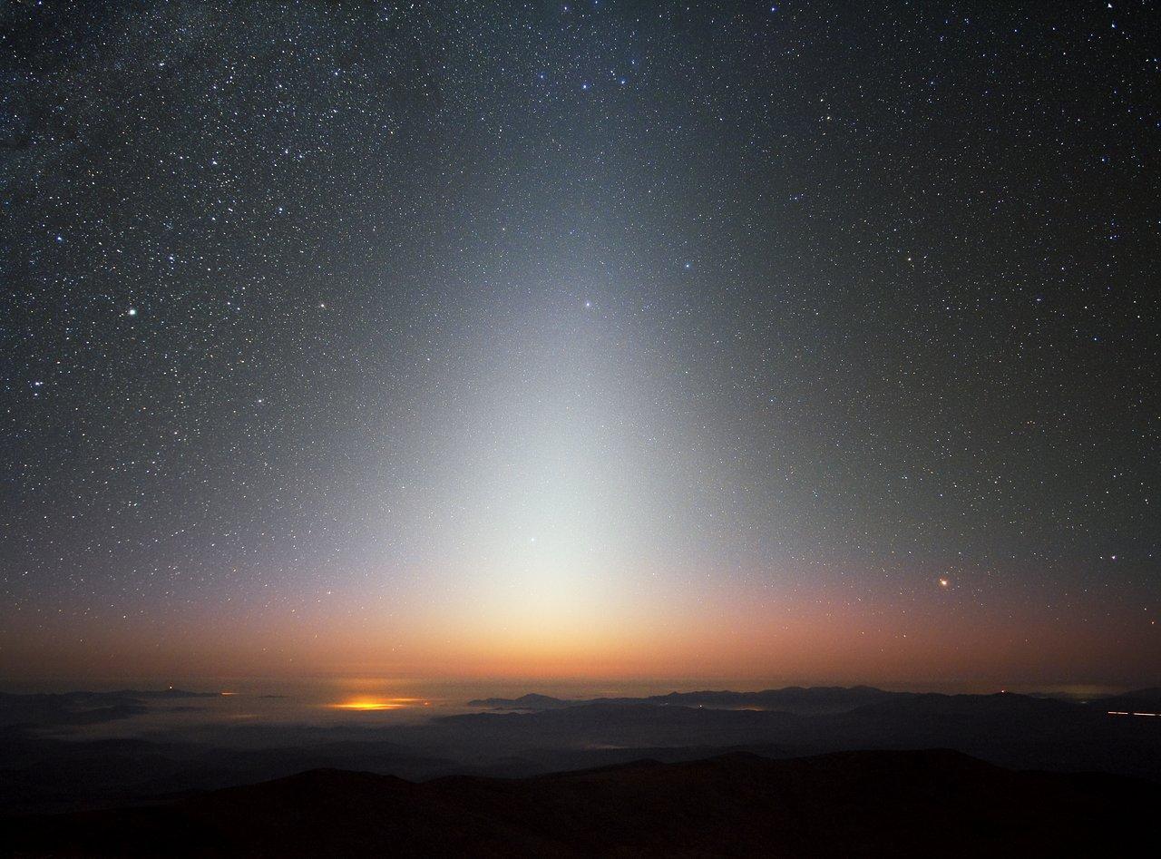 luce zodiacale Cile