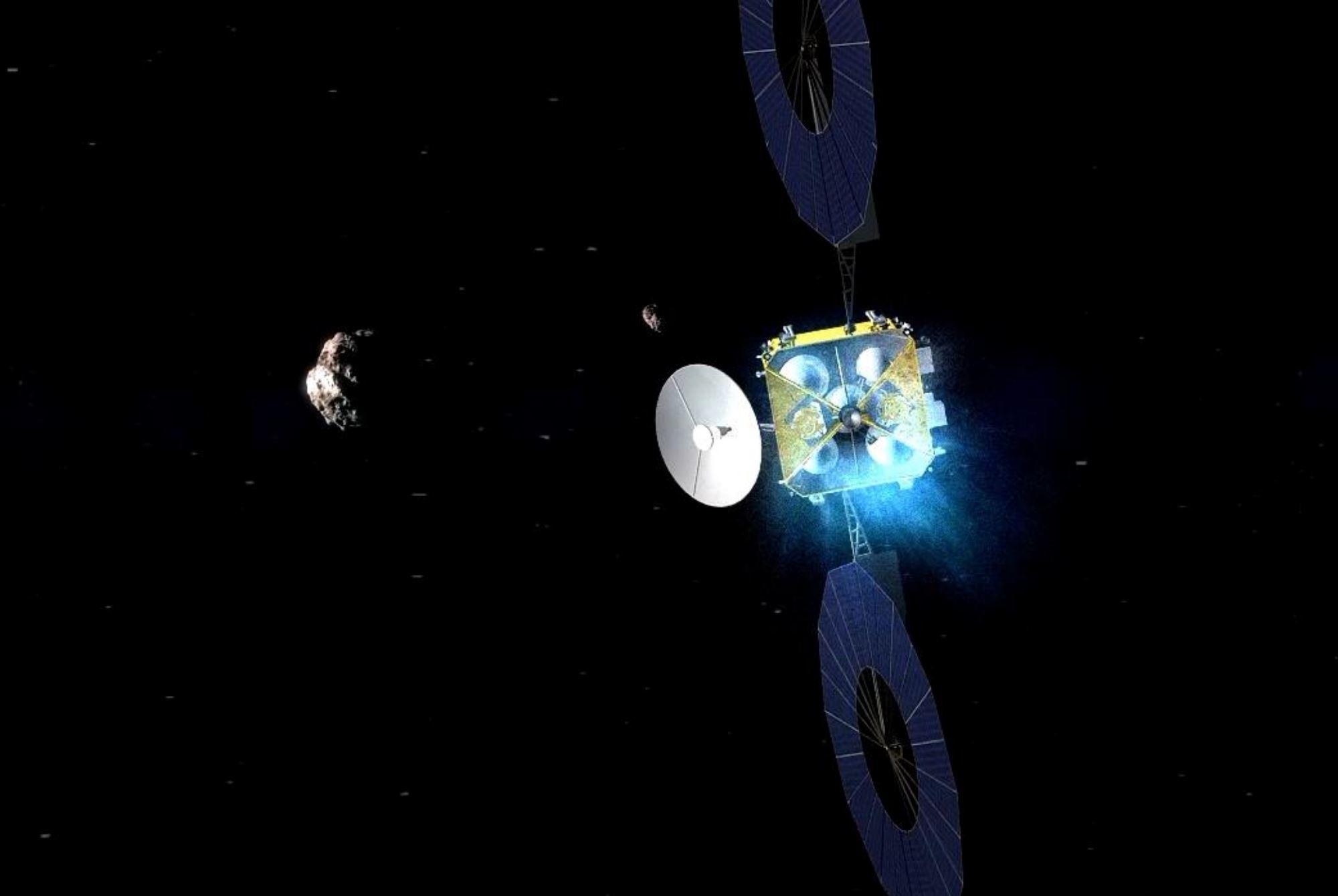 Un render della sonda ZhengHe Credit: CNSA