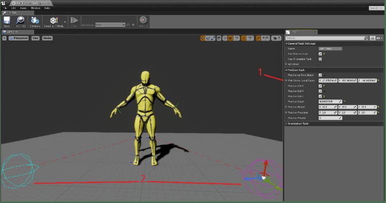 Interfaccia del software sviluppato da IKinema per la produzione di personaggi digitali. trasferimento tecnologico (credit IKinema)