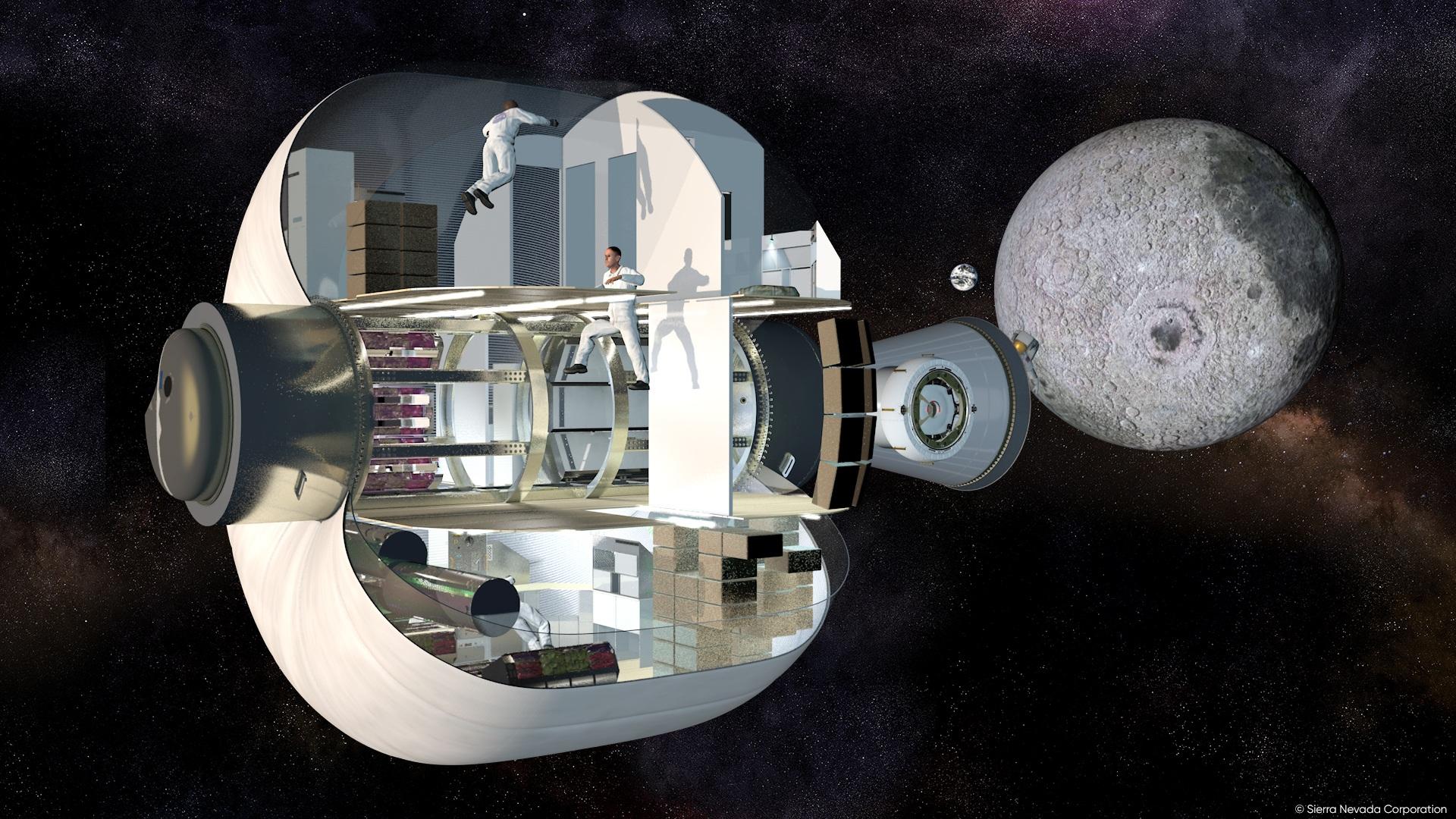 Un render di un modulo LIFE in progettazione da Sierra Nevada Corporation. Credits: Sierra Nevada Corporation.