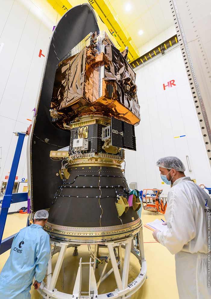 I satelliti della missione VV18. Credits: Airbus.