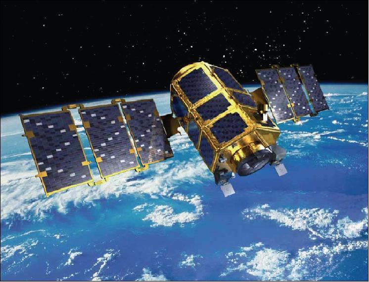 Un render del satellite KOMPSAT-2. osservazione terrestre