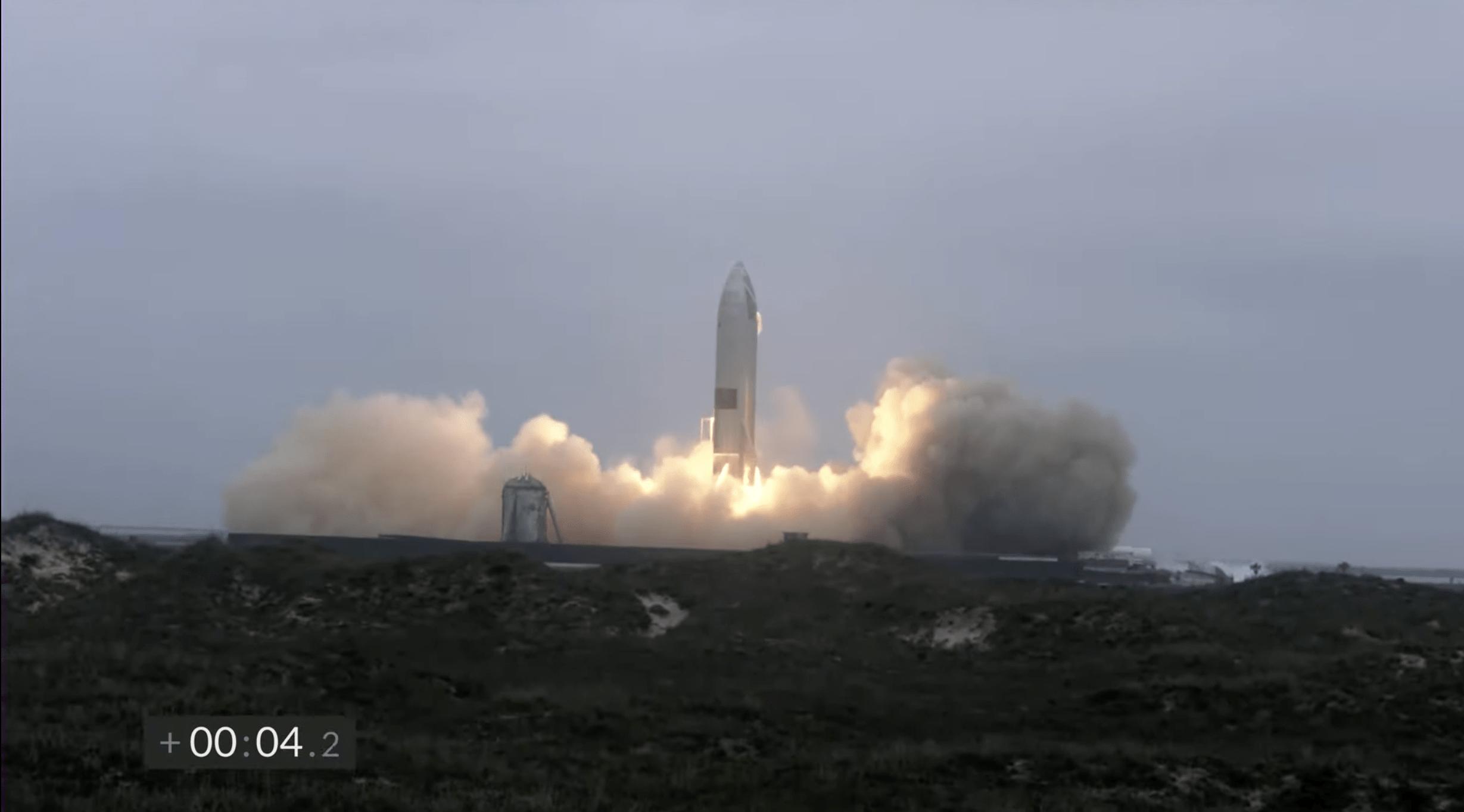 La partenza di Starship SN15
