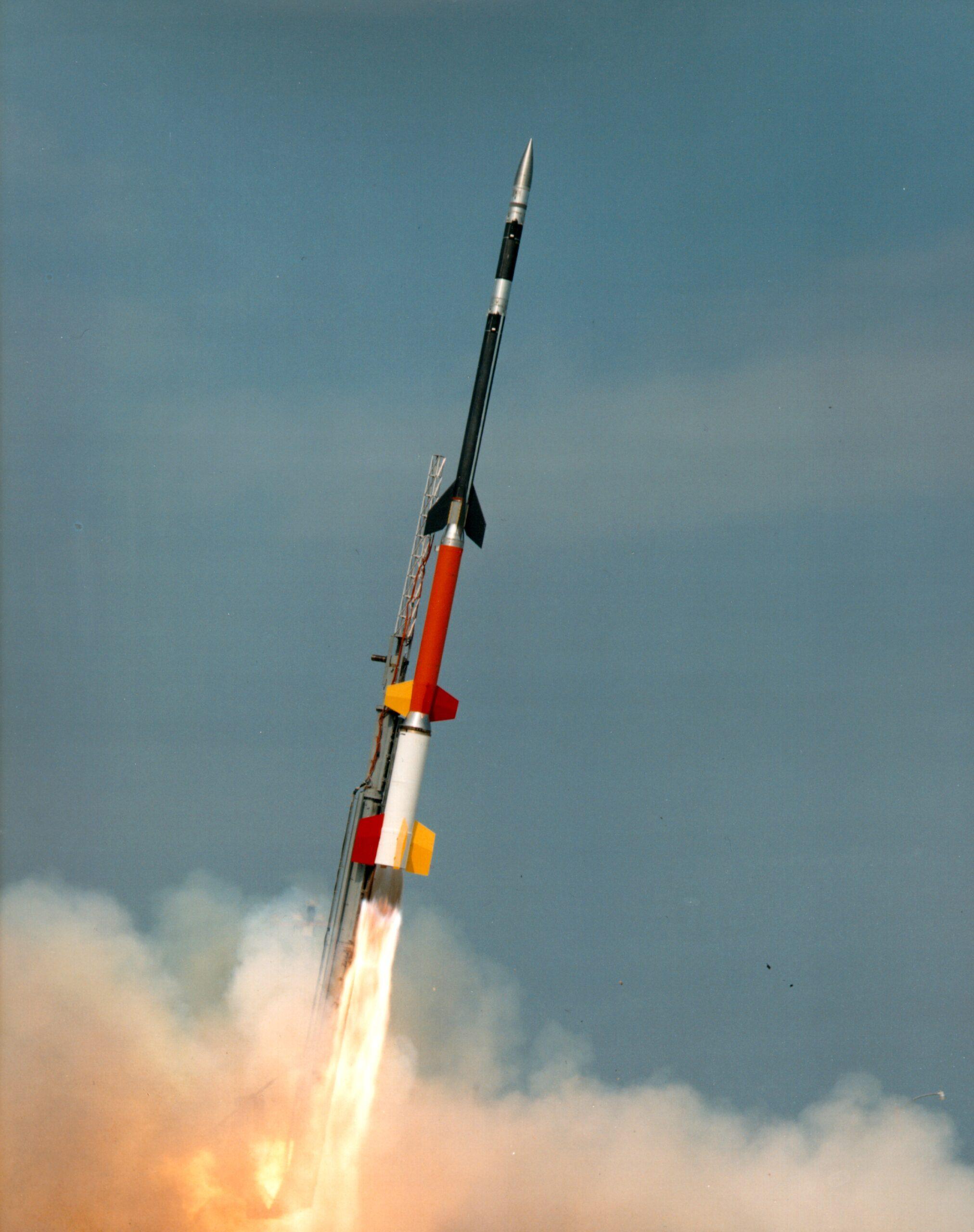 Il Black Brant XII durante un precedente lancio. Credits: NASA