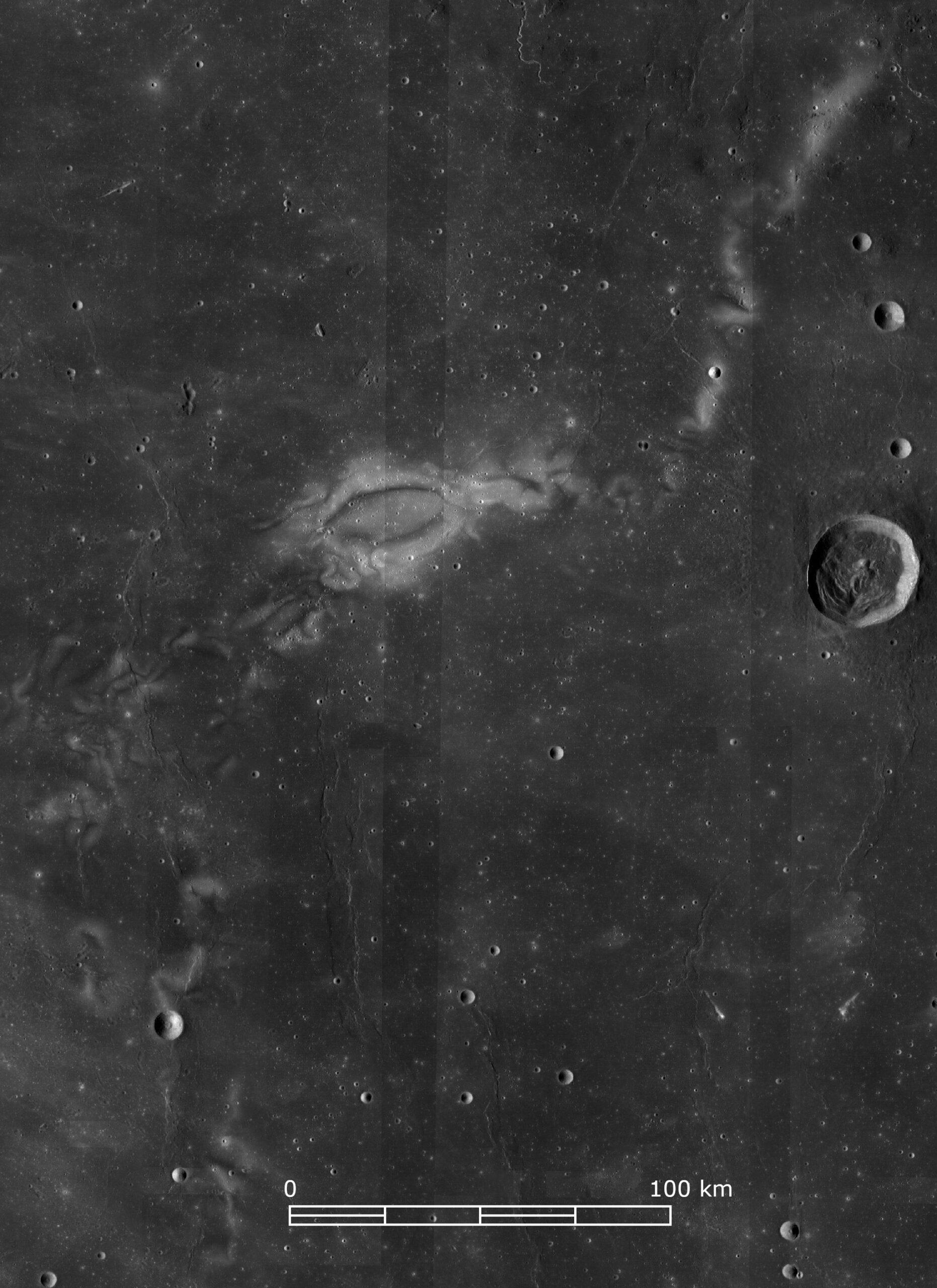 La Reiner Gamma fotografata dalla camera del Lunar Reconnaissance Orbiter. Credits: NASA