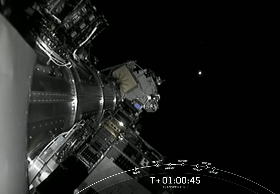 Il momento del rilascio di ION di D-Orbit.