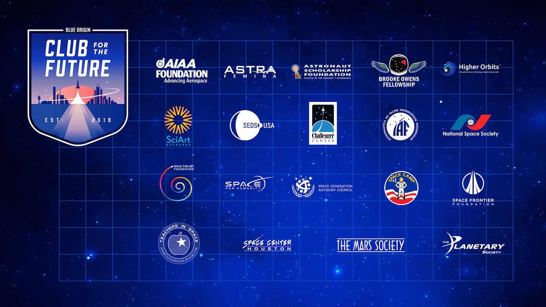 Le associazioni finanziate da Blue Origin.