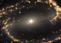 Immagine della galassia a spirale NGC 1300. Credit: ESO/ALMA (ESO/NAOJ/NRAO)/PHANGS