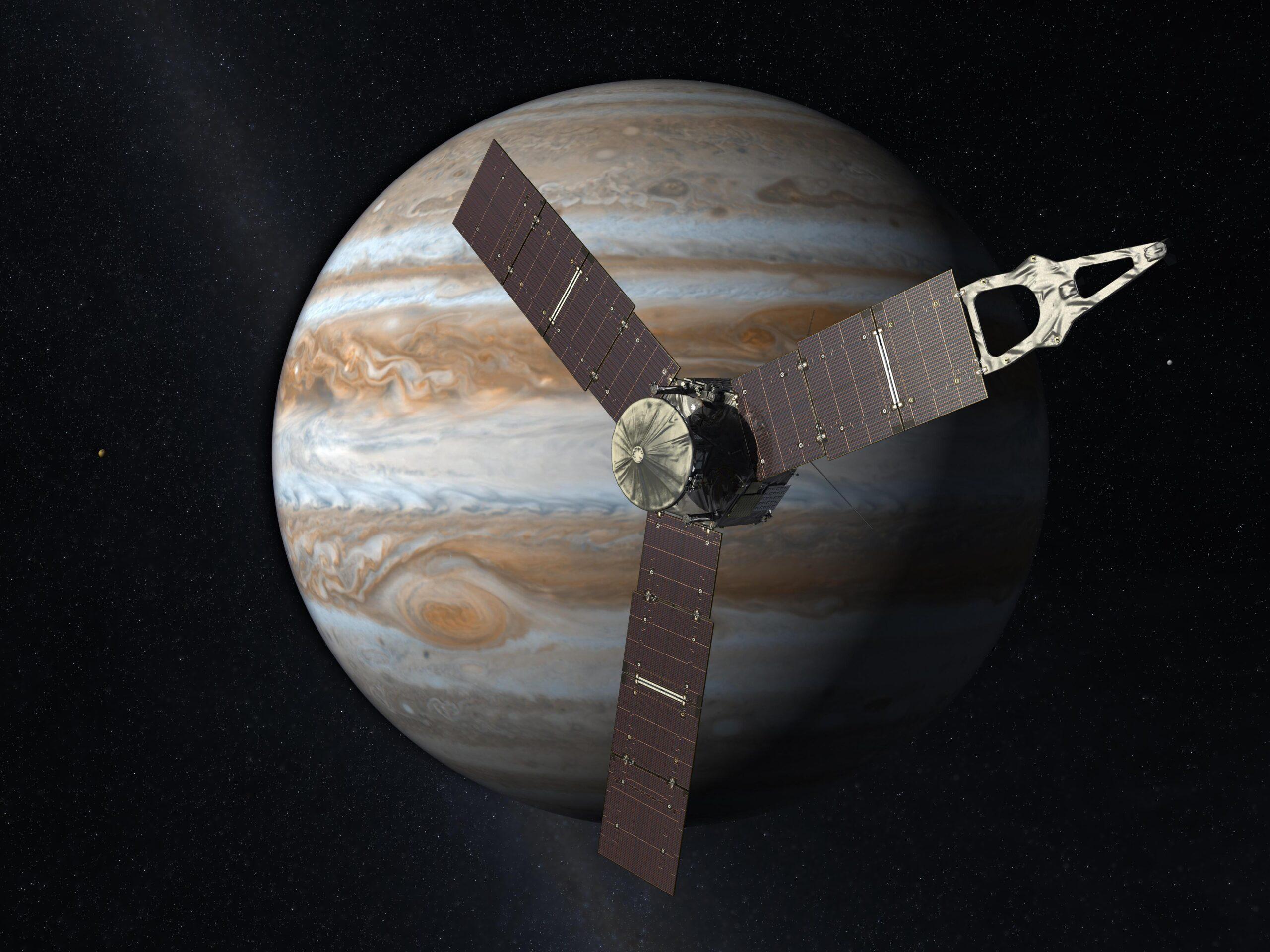 Sonda spaziale Juno in orbita attorno a Giove