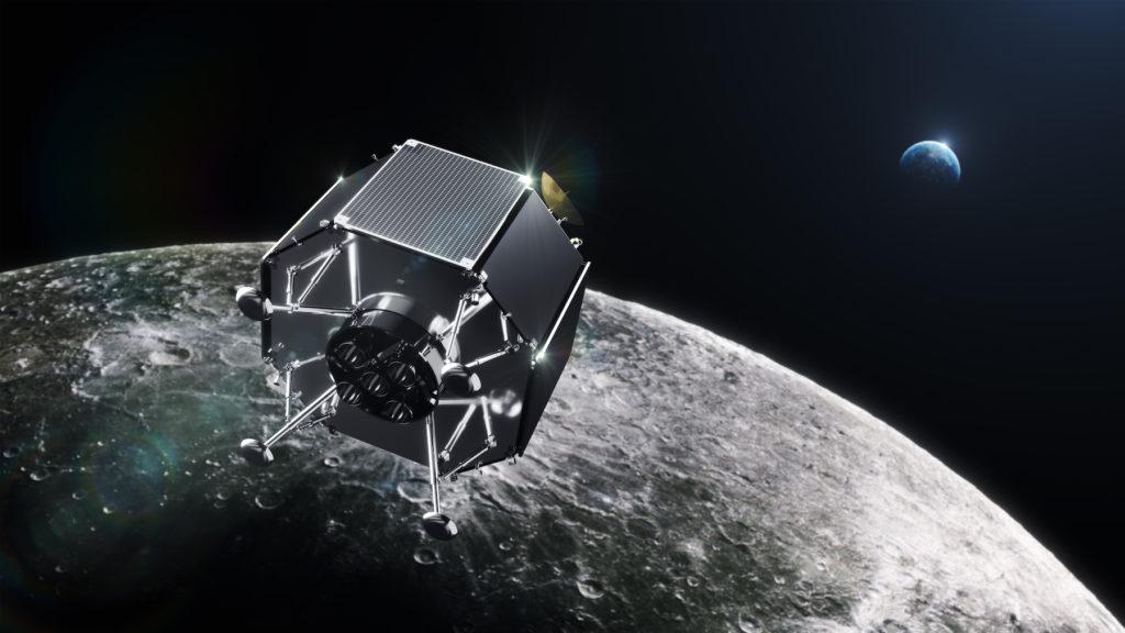 Il lander Series 2 in un render. Credits: iSpace.
