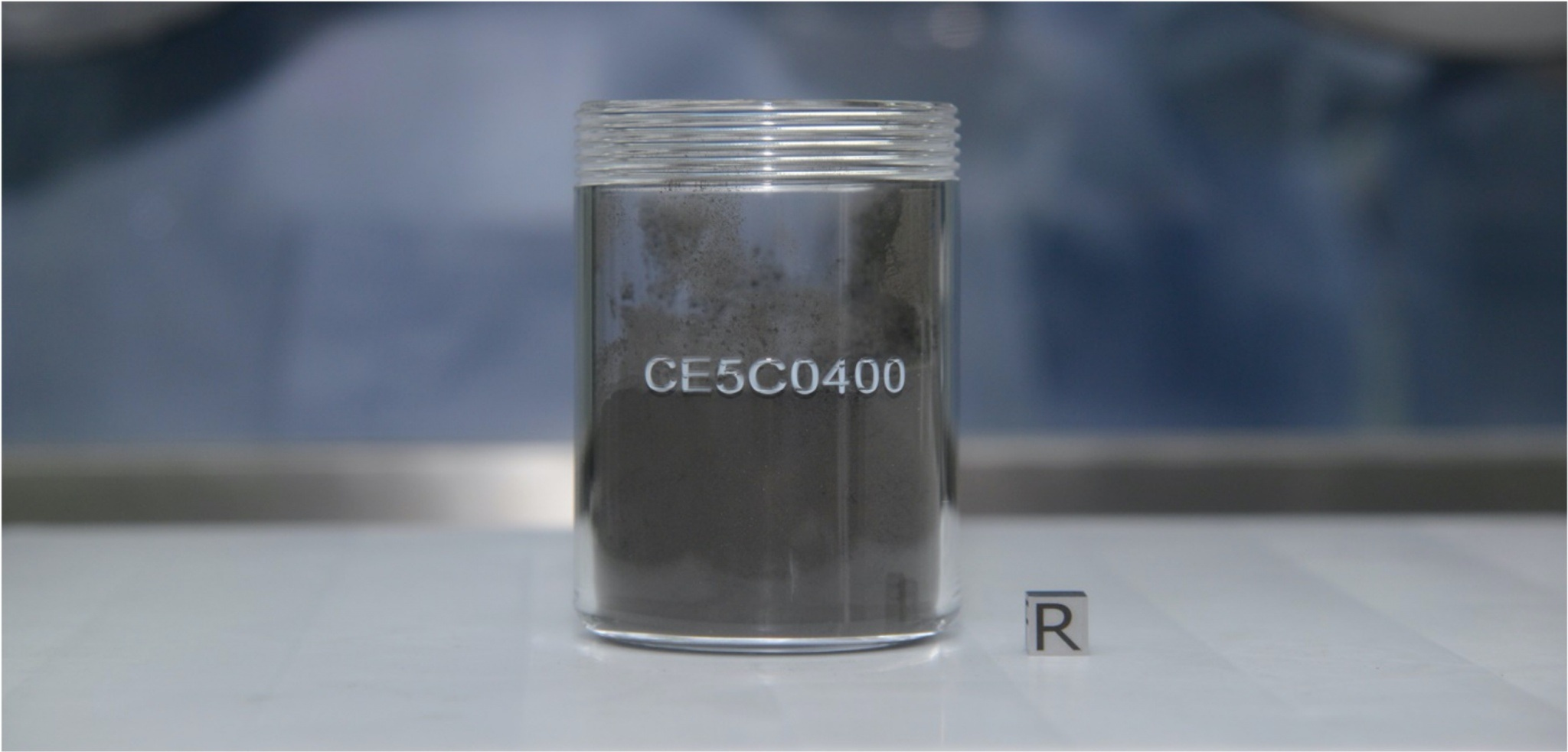 Il campione CE5C0400 di regolite lunare. Questo materiale pesa un totale di 35 grammi. Credits: CNSA (China National Space Administration) / CLEP (China Lunar Exploration Program) / GRAS (Ground Research Application System)