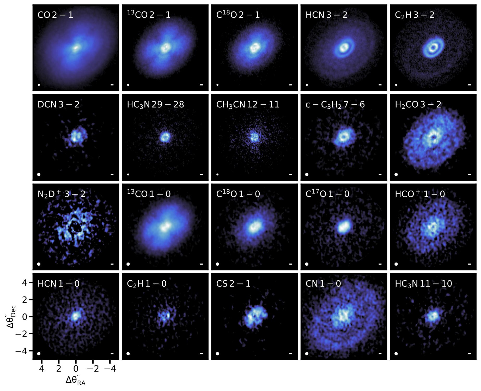 Facce molecolari del disco circumstellare studiato da ALMA