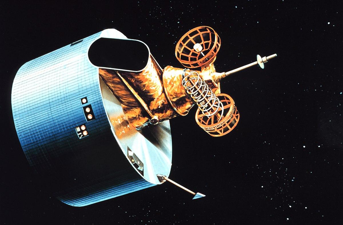 Un render artistico del satellite GOES-7.