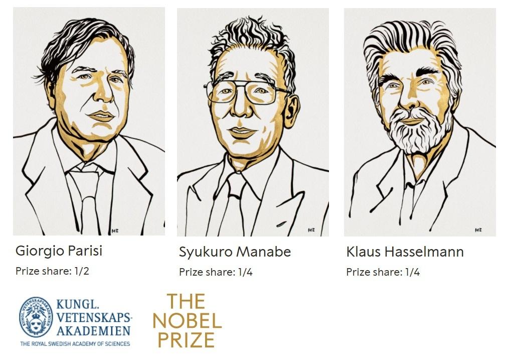 Vincitori premio Nobel fisica 2021